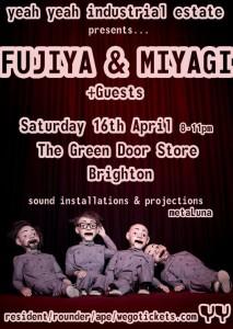 Flyer for Fujiya & Miyagi gig