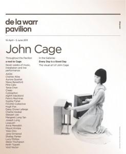 Flyer for a nod to Cage at the De La Warr Pavillion